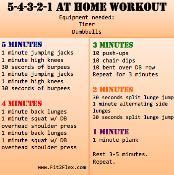 5-4-3-2-1 challenging at home workout and fitness routine