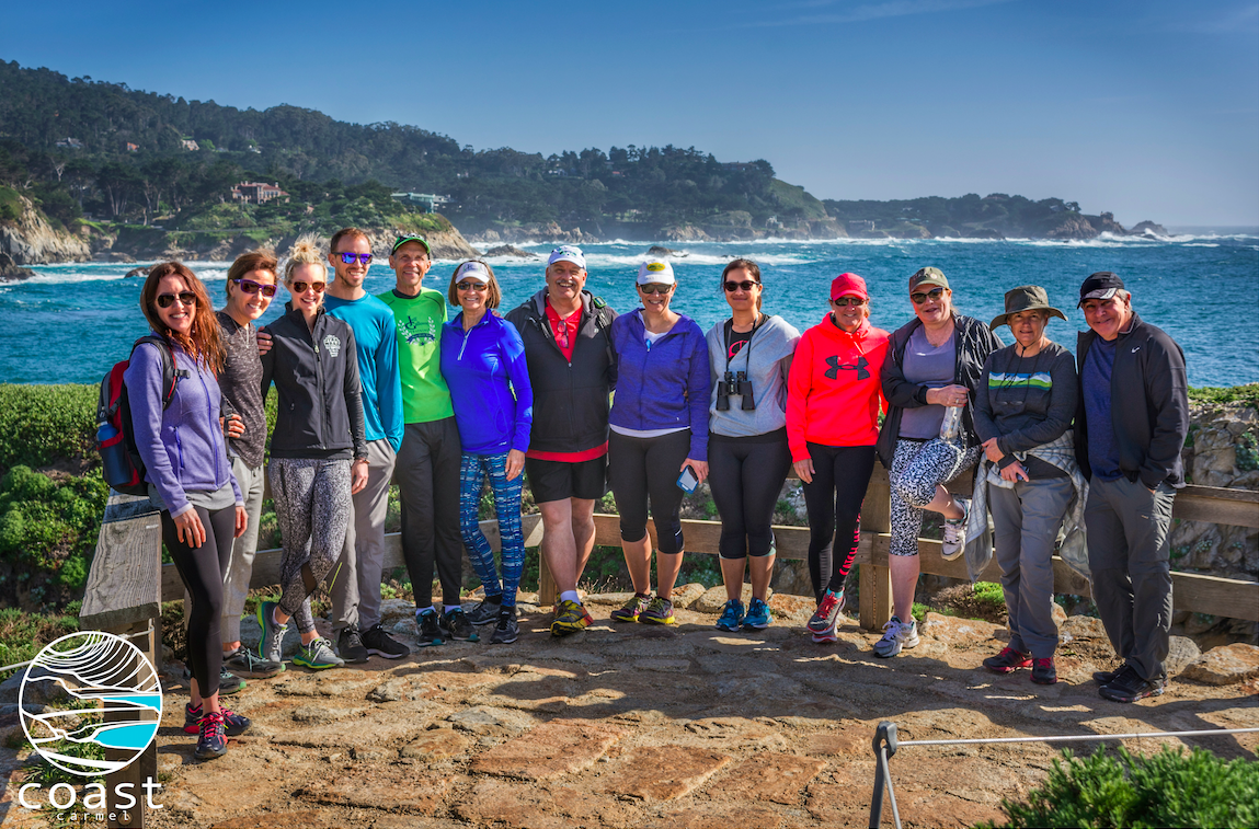 One of the awesome hikes at the Carmel fitness retreat.