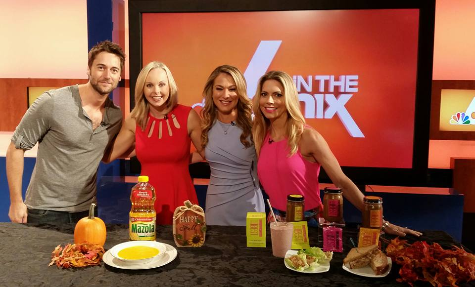 While in Miami taping a nutriton segment, Carissa met Ryan Eggold from NBC's the Blacklist