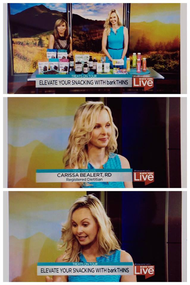 Registered Dietitian Carissa Bealert appears on NY Live NBC