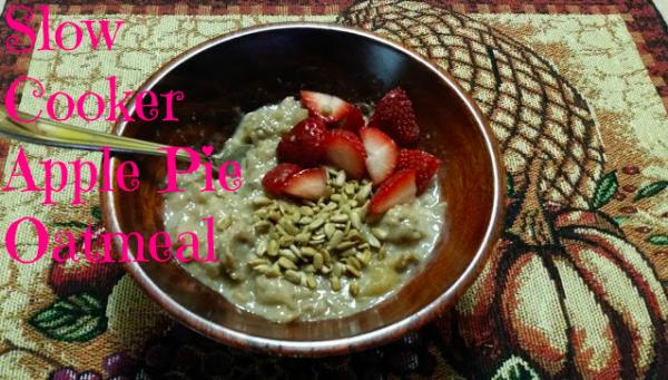 Slow cooker apple pie oatmeal recipe